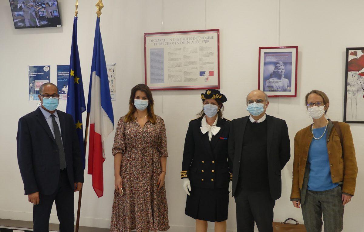 image mis en avant de Marlène Schiappa, Minister Delegate for Citizenship visiting OFII