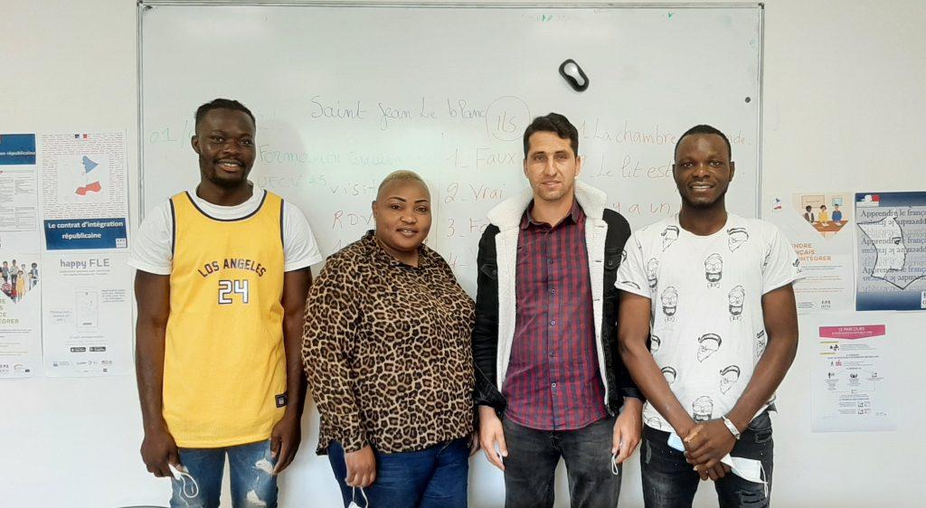 The trainees Mao K., Sylvia B., Din Mohammad S. and Daouda B.