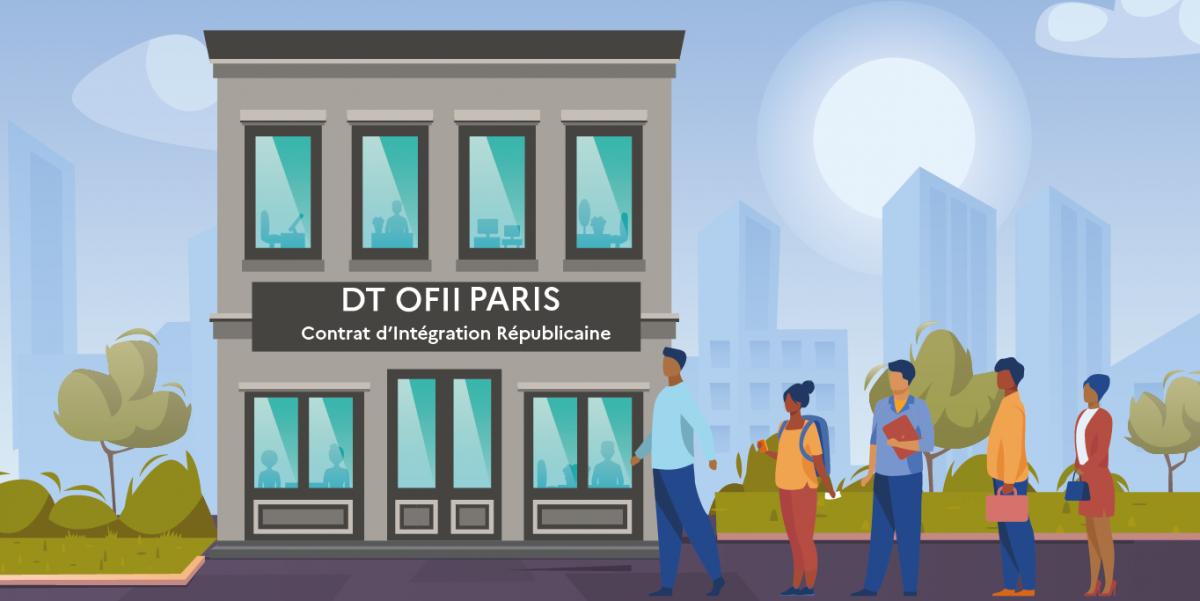 image mis en avant de Le parcours de la visite d'accueil, un après-midi à la direction territoriale de l'OFII de Paris